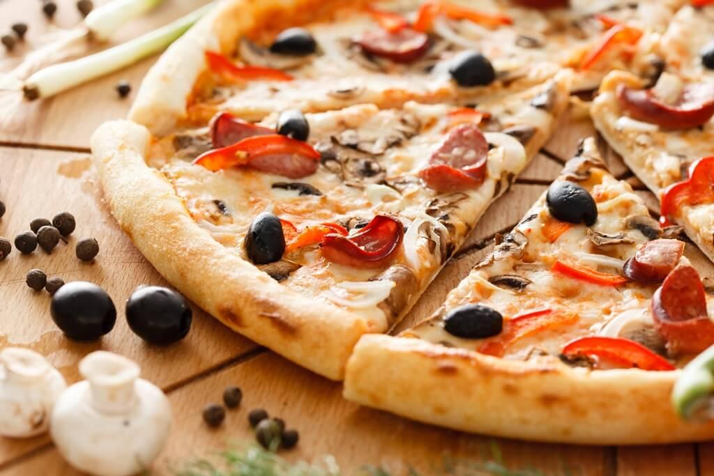 Pizza op de uitvaart