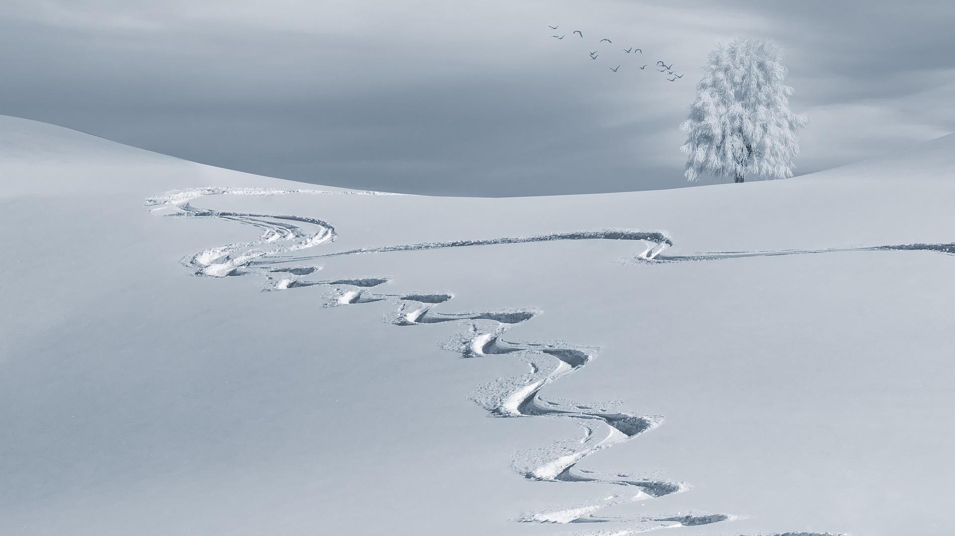 winterse uitvaart