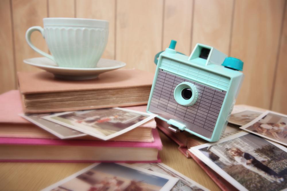 polaroids op de uitvaart