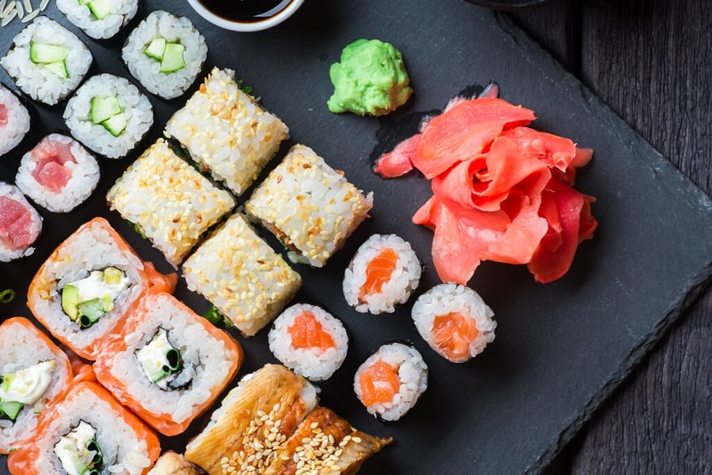 Sushi op de uitvaart