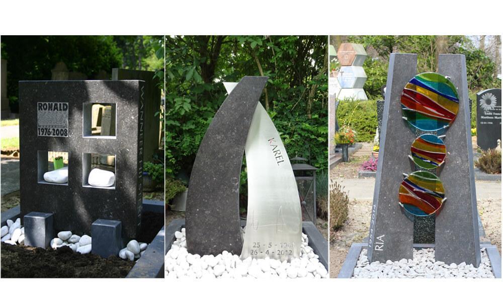 Moderne grafmonumenten en grafstenen